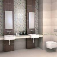 идея оригинального дизайна ванной комнаты картинка