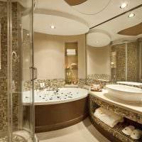 идея красивого интерьера ванной комнаты в квартире картинка