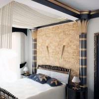 идея красивой декоративной штукатурки в дизайне гостиной фото