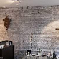 идея необычной декоративной штукатурки в интерьере квартиры под бетон картинка