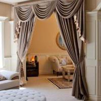 идея оригинальных декоративных штор в стиле квартиры фото