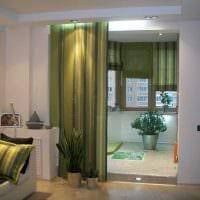 идея оригинальных декоративных штор в интерьере квартиры картинка