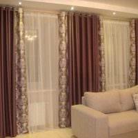 вариант оригинальных декоративных штор в интерьере квартиры картинка