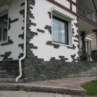 вариант оригинального декорирования загородного дома фото