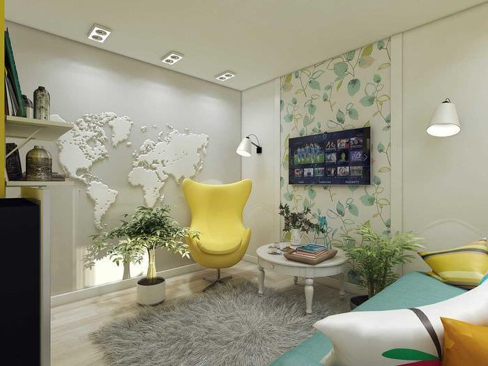 идея современного дизайна кухни 3-х комнатной квартиры