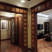 вариант современного декора спальни с аркой картинка