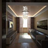 идея современного декора гостиной 3-х комнатной квартиры фото