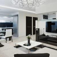 идея необычного дизайна кухни 3-х комнатной квартиры фото