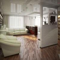 вариант оригинального интерьера спальни 3-х комнатной квартиры картинка