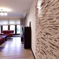 вариант необычного декоративного камня в дизайне квартиры фото