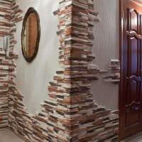 идея яркого декоративного камня в стиле квартиры картинка