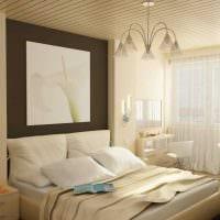 вариант оригинального декорирования интерьера спальной комнаты фото