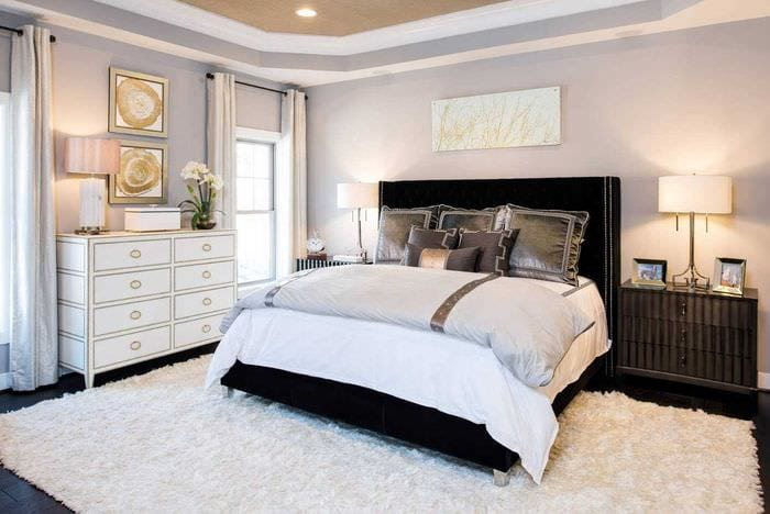 идея яркого декорирования дизайна спальни