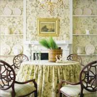 идея красивого декора гостиной в деревенском стиле фото