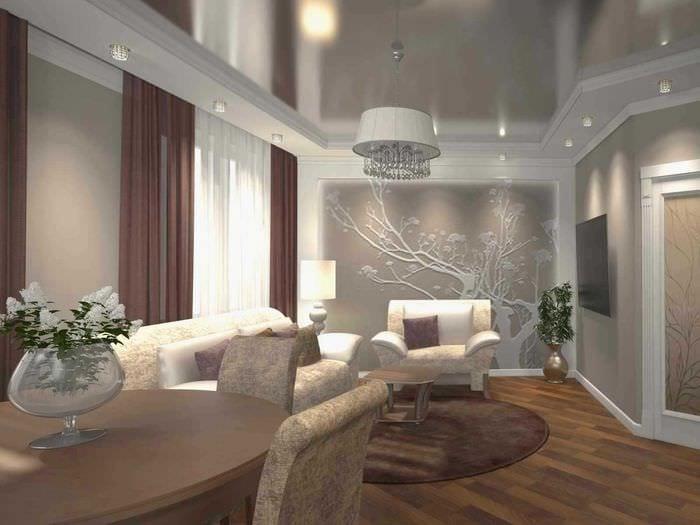 идея оригинального интерьера 2 комнатной квартиры