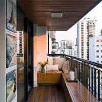 идея красивого стиля маленького балкона фото