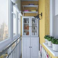 вариант современного интерьера небольшого балкона картинка