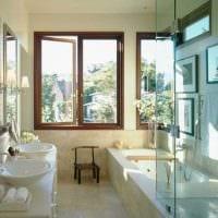 идея красивого интерьера ванной комнаты картинка