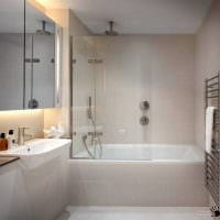 идея яркого интерьера ванной в квартире картинка