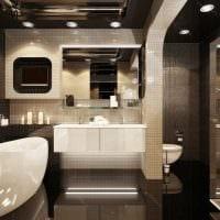 вариант оригинального дизайна ванной комнаты в квартире фото