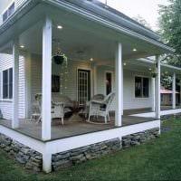 идея необычного дизайна веранды в доме фото