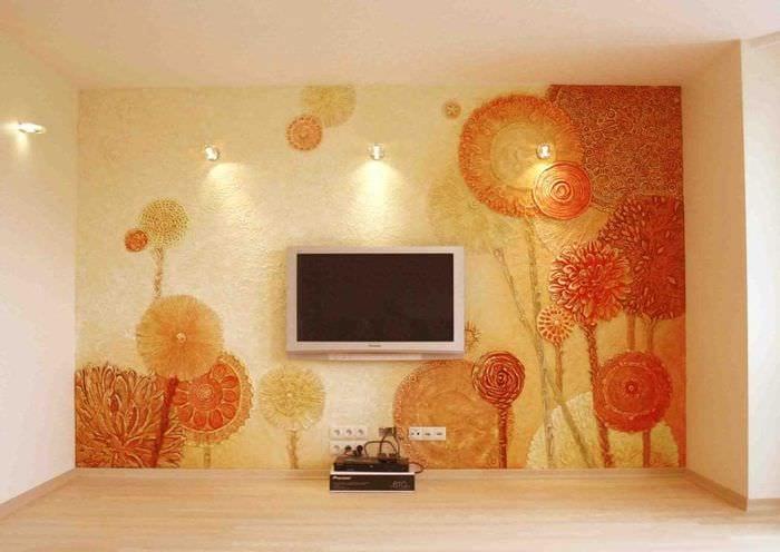 рисунки на стенах в квартире фото идеи бизон--это одно