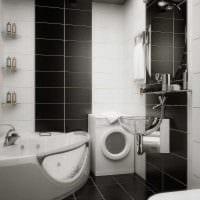 идея яркого интерьера белой ванной фото