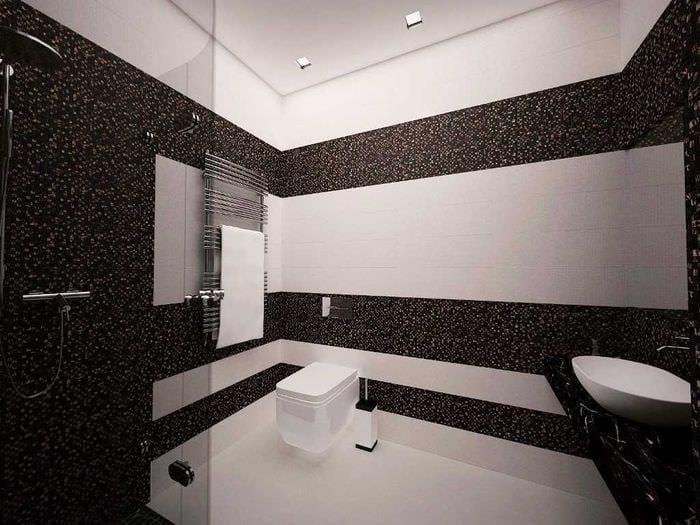 идея яркого интерьера белой ванной комнаты