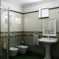 вариант красивого дизайна ванной комнаты картинка