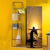 вариант необычного оформления холодильника на кухне картинка