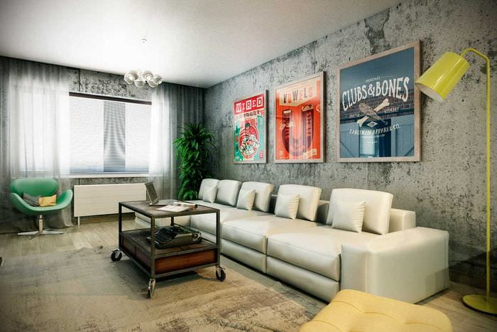 идея красивого украшения интерьера гостиной