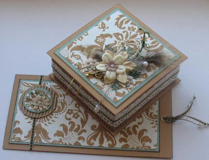 идея оригинального декора шкатулки своими руками