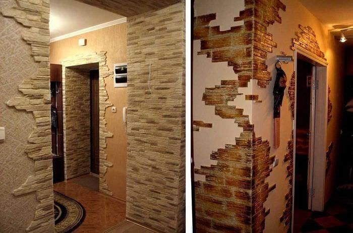 идея красивого оформления углов в квартире