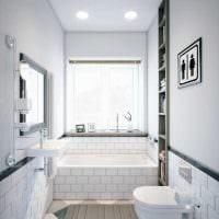 идея яркого интерьера белой ванной комнаты картинка