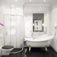 вариант оригинального стиля белой ванной картинка