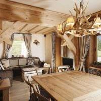 вариант оригинального дизайна дома в дереве картинка