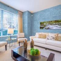 идея необычного стиля квартиры с декоративной штукатуркой картинка