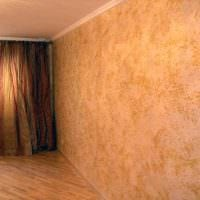 вариант красивого дизайна комнаты с декоративной штукатуркой картинка