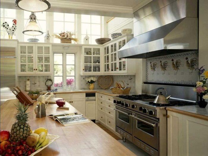 вариант необычного стиля кухни