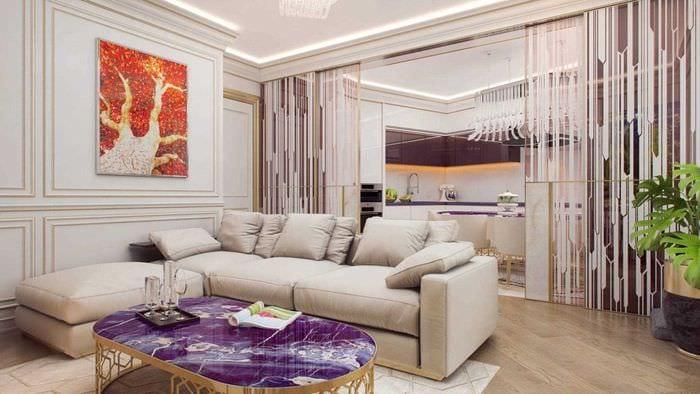 идея необычного интерьера квартиры 2017 года
