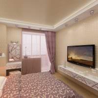 идея необычного стиля 2 комнатной квартиры фото пример