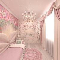 вариант цветной дизайна спальни для девочки фото