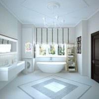 вариант красивого стиля ванной комнаты картинка