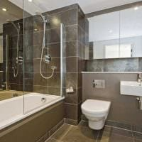вариант необычного стиля ванной в квартире картинка
