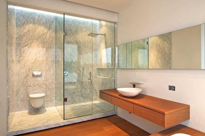 вариант необычного дизайна ванной комнаты