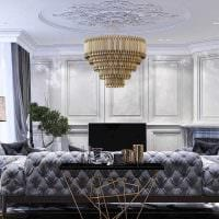 идея яркого украшения интерьера гостиной картинка