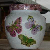 идея оригинального оформления напольной вазы картинка