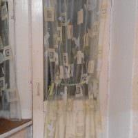 идея ярких декоративных штор в стиле комнаты фото