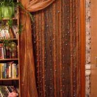 вариант красивых декоративных штор в дизайне комнаты картинка
