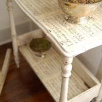 вариант состаривания мебели подручными материалами фото